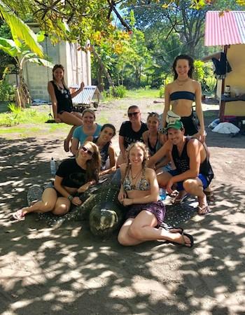 équipe mission tortues au Costa Rica
